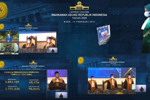 Ketua pa. Stabat Mengikuti Laptah 2020 Mahkamah Agung Secara Virtual