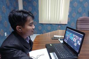 Panitera Pengganti PA. Stabat mengikuti Ujian Seminar Akhir Aksi Perubahan PKP secara online tahun 2021.
