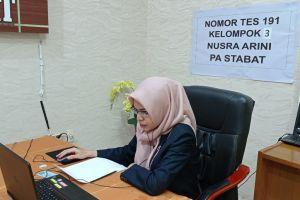 Hakim PA. Stabat Ikuti Fit and Proper Test Calon Wakil Ketua